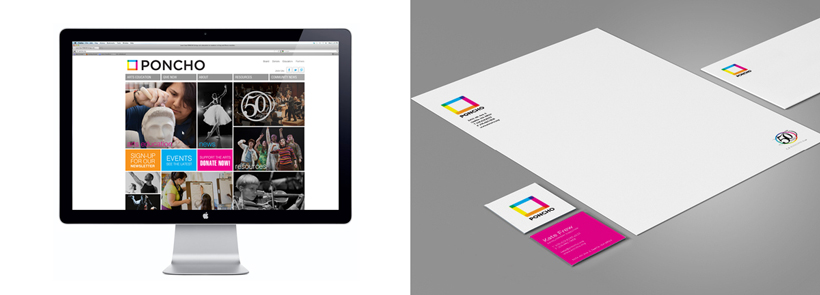 PONCHO website and letterhead design
